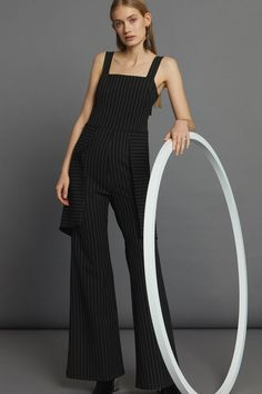 Relay Jumpsuit - Black Pinstripe Minimal Beauty, Aw17, Black Jumpsuit, Winter White, Luxury Fashion, Dressing, Shopping, Collection, Style