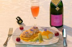 Joues de lotte au beurre d'agrumes pour le Champagne rosé d'Hélène