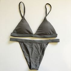 Swimming Sports & Entertainment 2818 Women Push-up Padded Bra Bandage Bikini Set Pure Color Hot Ladies Frill Swimsuit Triangle Swimwear Bathing