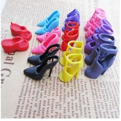 Online Shop Hot Gift 30 Pairs/Lot Mixed Color Cute Fashion Dolls Heels Sandals Set For Barbie Doll Shoes Colthes Dress Dressing Toy Girl|Aliexpress Mobile