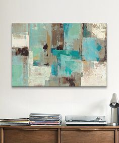 Look at this #zulilyfind! Teal & Aqua Reflections Gallery-Wrapped Canvas #zulilyfinds