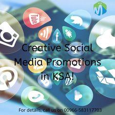 Get Creative Social Media Promotion Services at cost effective price in KSA!  #SocialMedia #Digitalmarketing #Onlinepromotion #KSA #Facebookmarketing #Instagrammarketing #Paidadvertising Facebook Marketing, Social Media Marketing, Digital Marketing, Pinterest Marketing, Promotion, Creative