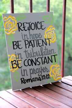 Romans 1212 Canvas Painting  11X14 by graceelliott10 on Etsy