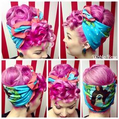 Vintage retro style is very beautiful and remarkable for any occasions. Rockabilly Hair, Rockabilly Fashion, Rockabilly Style, 50s Hairstyles, Vintage Hairstyles, Glamour, Retro Updo, Victory Rolls, Pin Up Hair