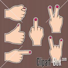 CLIPART HAND GESTURES