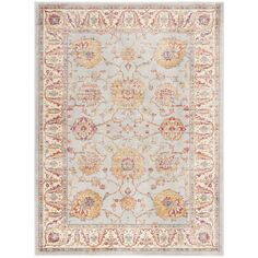 Sevilla Silver/Ivory 4 ft. x 5 ft. 7 in. Area Rug