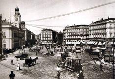 La Puerta del Sol  de Madrid en 1877