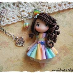 Rainbow princess avaiable on my Etsy shop! Link in Bio! Thanks to take a look #polymerclaycharms #polymerclay #polymerclayjewelry #fimo #clay #clayart #claycharms #kawaiijewellery #kawaii #chibi #princess #sculpey #fimoclay #fimocreations #fimodoll #handmade #handmadeaccessories #rainbow #dress #hechoamano #fairy #fattoamano #smallbiz #Etsy #etsyseller #necklace #jewelry #jewels #doll #handmade