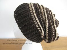 Riptide Slouch Hat - Crochet Tutorial Looks so easy!  I'm going to make this!!