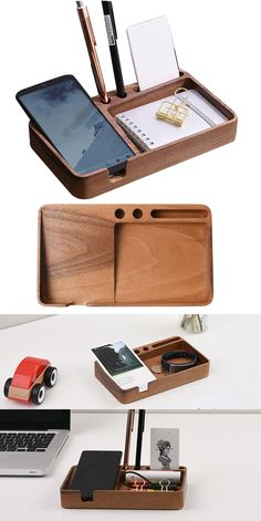 100Pcs Wooden Cube Square Base Memo Clips Holder Photos Cards Holder Stand