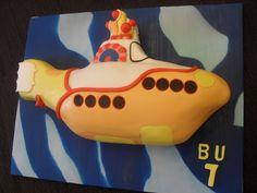 Yellow submarine birthday cake