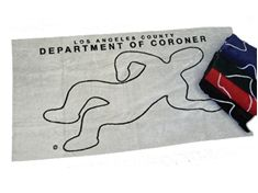 Los Angeles County Coroner Gift Shop - Beach Towel