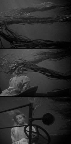 In one of the many striking images in Night of the Hunter (1955), the murdered Willa Harper (Shelley Winters) is found at the wheel of a car at the bottom of a river, her hair drifting with the seaweed