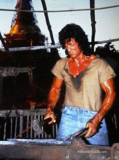 Rambo III - Publicity still of Sylvester Stallone. The image measures 1124 * 1507 pixels and was added on 21 November Rambo 3, John Rambo, Rocky Quotes, Stallone Movies, Rocky Series, Rocky Balboa, Muscle, Sylvester Stallone, Sexy Jeans