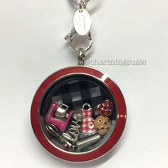 While playing around with new and old charms, pinner says this locket is perfect for her Mom, who loves to bake!