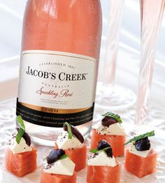 Jacob's Creek Sparkling rose - not keen on the watermelon canapes though