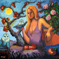 # 365 Me llevaré mis animalitos, mi mar, mi sol...,   Autor: RomSabi, acrilico sobre tabla madera, 60x60cm