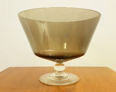Vintage Caithness Glass Footed Fruit Bowl - Domhnall O'Broin - 1960s - Peat   eBay