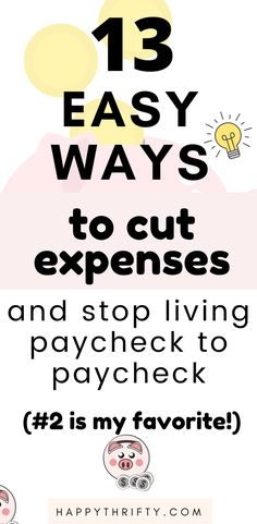 These are some frugal living ideas and money-saving tips that might be helpful to improve your financial health. Whether you are trying to stop living paycheck to paycheck, build your emergency fund, pay off your debt with a low-income or middle-class salary, or start building wealth - this article will help you to drastically cut your expenses. Enjoy! #savemoney #budgetingtips #budgetingideas #personalfinance