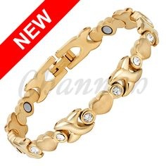 Find More Chain & Link Bracelets Information about 2016 Women Stainless Steel Clear Crystals 18K Gold Heart Magnetic Ladies Bracelet Jewellery Bangle Free Shipping Hong Kong Post,High Quality jewellery stainless steel,China jewellery casting Suppliers, Cheap steel scale from Channah Store on Aliexpress.com