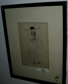 42831E1 17009 AMERICAN ESTATE FRAMED ART WATERCOLOR - ASIAN MAN - ANTIQUE $1499 or best offer  this item with ship from costa rica free to anywhere in the world.
