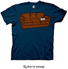 The Big Bang Theory Couch Reserved For Sheldon Navy Adult T-shirt