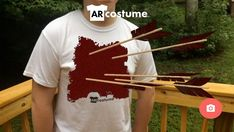 Real World, Virtual Gore! Turn an unassuming t-shirt into a horrific display of blood and gore. Effort, Novels, Costumes, Halloween, Dress Up Clothes, Fancy Dress, Fiction, Romance Novels, Men's Costumes