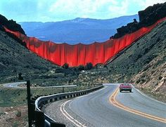 Valley Curtain by #Christo and Jeanne Claude  http://materiac.com http://materiacagency.com