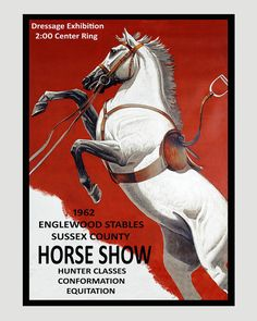 Horse Show Dressage Equitation American by HeritagePosters on Etsy