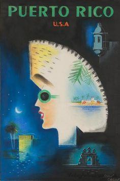 Vintage poster Puerto Rico