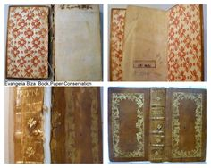 Conservation of leaher binding. Old Books, Butcher Block Cutting Board, Conservation, Paper, Antique Books, Conservation Movement, Canning