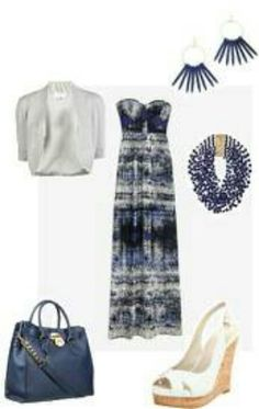 Blue maxi dress #Outfits from Stylish Girl app #maxidress  #outfit