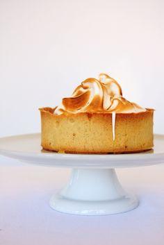 lemon tart with almond meringue.