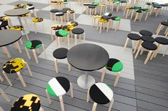 The innovative UPM ProFi Deck design floor was at home in the Flow Festival and kept good company with renowned Artek furniture and restaurant Kuurna's gourmet food. Composite Decking, Deck Design, Good Company, Helsinki, Gourmet Recipes, Flow, Restaurants, Hotels, Range