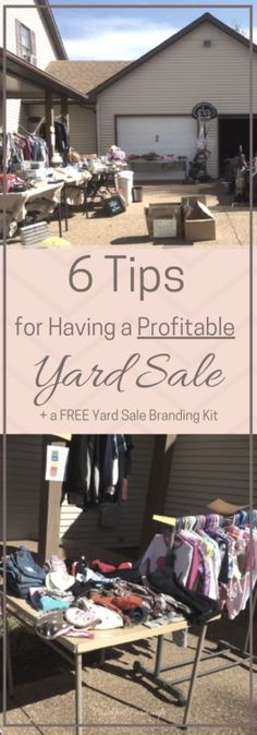 Tired of putting maximum work for minimum profit at your yard sales? Check out these tips for a profitable yard sale & snag a FREE Yard Sale Branding Kit!