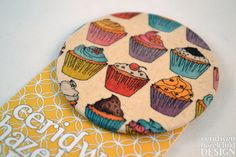 Cupcake Fabric Badge Large Badge Pin Badge Fabric Covered Button cute badge brooch by ceridwenDESIGN http://ift.tt/22hGyfi