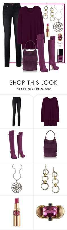"""""""Beautiful Berry"""" by barbmama ❤ liked on Polyvore featuring Donna Karan, John Galliano, Burberry, Haridra, Gurhan, Chanel and Yves Saint Laurent"""