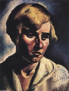 """Portrait Of A Woman"" by Erzsebet Korb (1899-1925, Hungary)"
