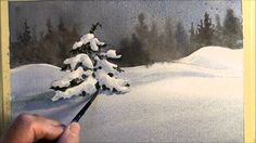 Beginners how to paint Snow