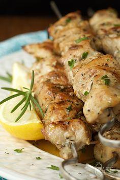 Lemon, Rosemary and Garlic Chicken Skewers