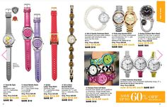 Do you love watches?  Check out these styles in the Outlet catalog that could save you 60%!  Check them out at my eStore: https://jtomlinson.avonrepresentative.com/
