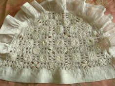 Antique Handmade Needle Lace Cosy by FleaWhoSaysOUI2 on Etsy