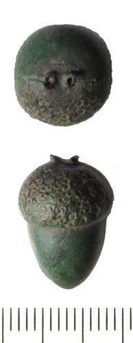 1450-1600 cast copper alloy button