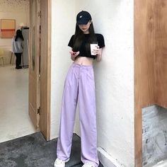 Stylish Outfits, Cute Outfits, Asian Style, Ulzzang, Korean Fashion, Harem Pants, Girl Fashion, Passion, Film