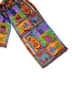 Love Laurel Burch! Look at this #zulilyfind! Dog Tails Patchwork Silk Scarf #zulilyfinds