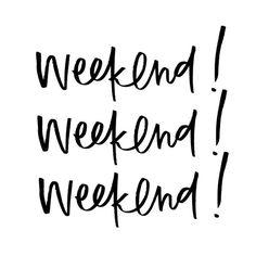 weekend lettering by Margot + Co:
