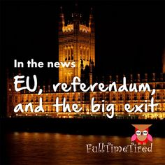 EU, referendum, and the great exit Eu Referendum, Woke Up This Morning, Freedom Of Movement, I Don T Know, Tired, Shit Happens, Reading, Word Reading, Reading Books