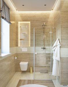 Современный дизайн частного дома 114 метров | Студия LESH (ванная комната, санузел, душевая, бежевый цвет)