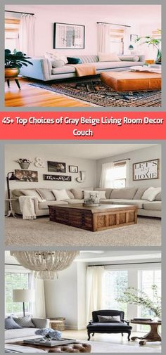 Stone-gray living room decor receives a boost from orange accents and contemporary lamps. The perfect office furnishings fit perfectly and provides lots of r Beige Living Room Decor, Living Room Renovation, Room Renovation, Living Room White, Couches Living Room, Living Room Grey, Room, Beige Living Rooms, Room Decor