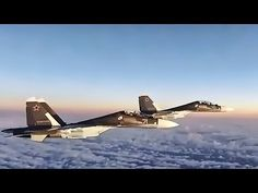U.S. Air Force F-15 Eagles from the 493d Fighter Squadron (Grim Reapers), intercept Russian SU-30 Flankers in international airspace near the Baltics during Baltic Air Policing mission, November 23 and December 13, 2017. The intercepts were initiated because the Russian aircraft did not...